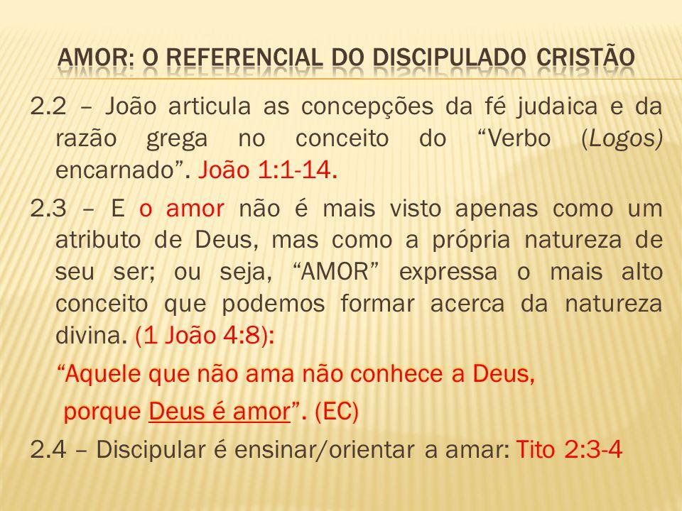 Amor: o referencial do discipulado cristão