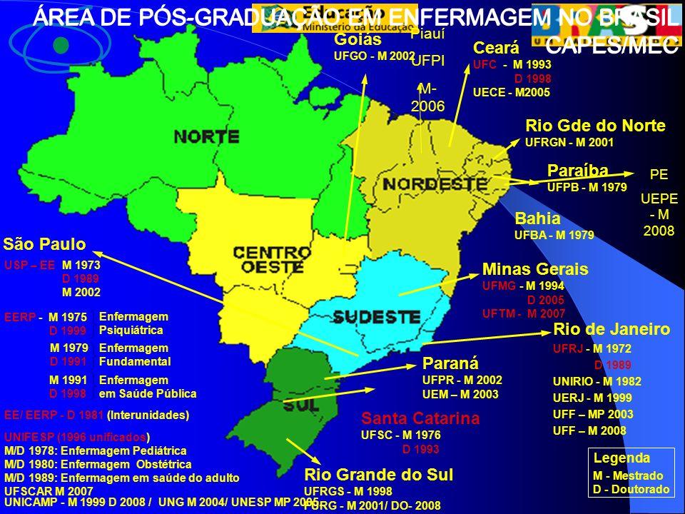 ÁREA DE PÓS-GRADUAÇÃO EM ENFERMAGEM NO BRASIL CAPES/MEC
