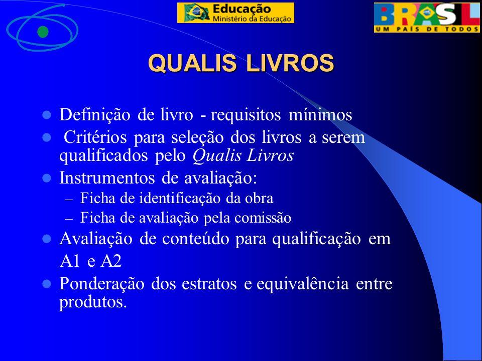 QUALIS LIVROS Definição de livro - requisitos mínimos