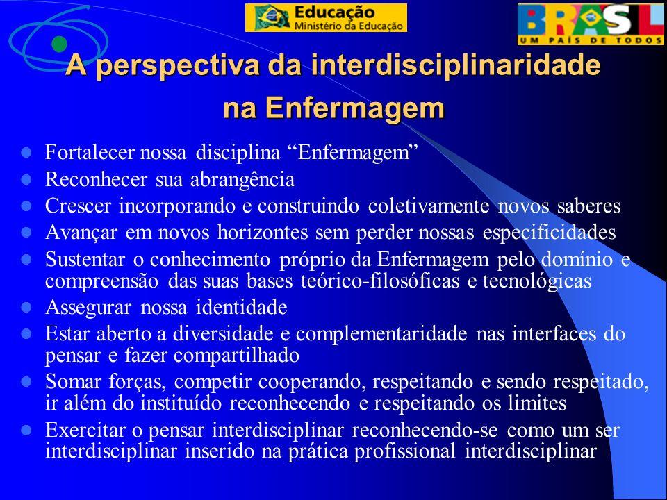 A perspectiva da interdisciplinaridade na Enfermagem