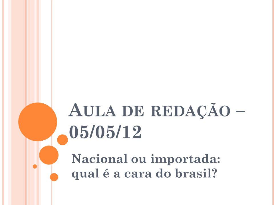 Nacional ou importada: qual é a cara do brasil