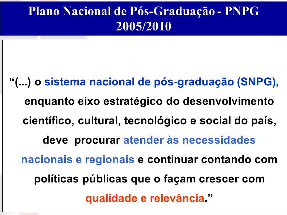 Plano Nacional de Pós-Graduação - PNPG 2005/2010
