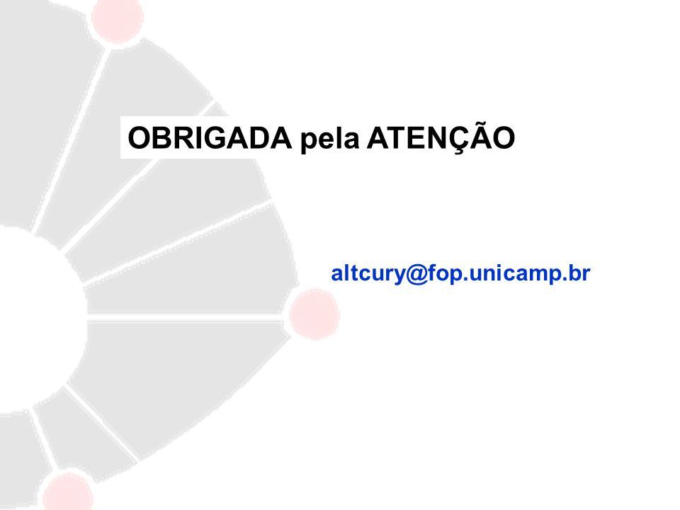 OBRIGADA pela ATENÇÃO altcury@fop.unicamp.br