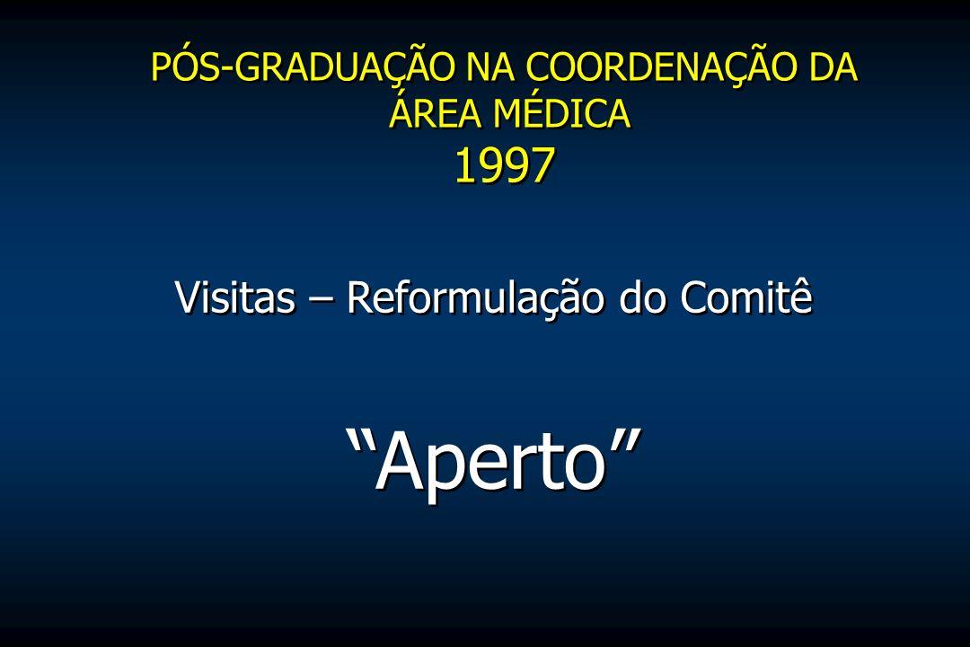 1997 Visitas – Reformulação do Comitê Aperto