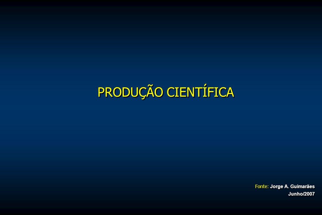 PRODUÇÃO CIENTÍFICA Fonte: Jorge A. Guimarães Junho/2007