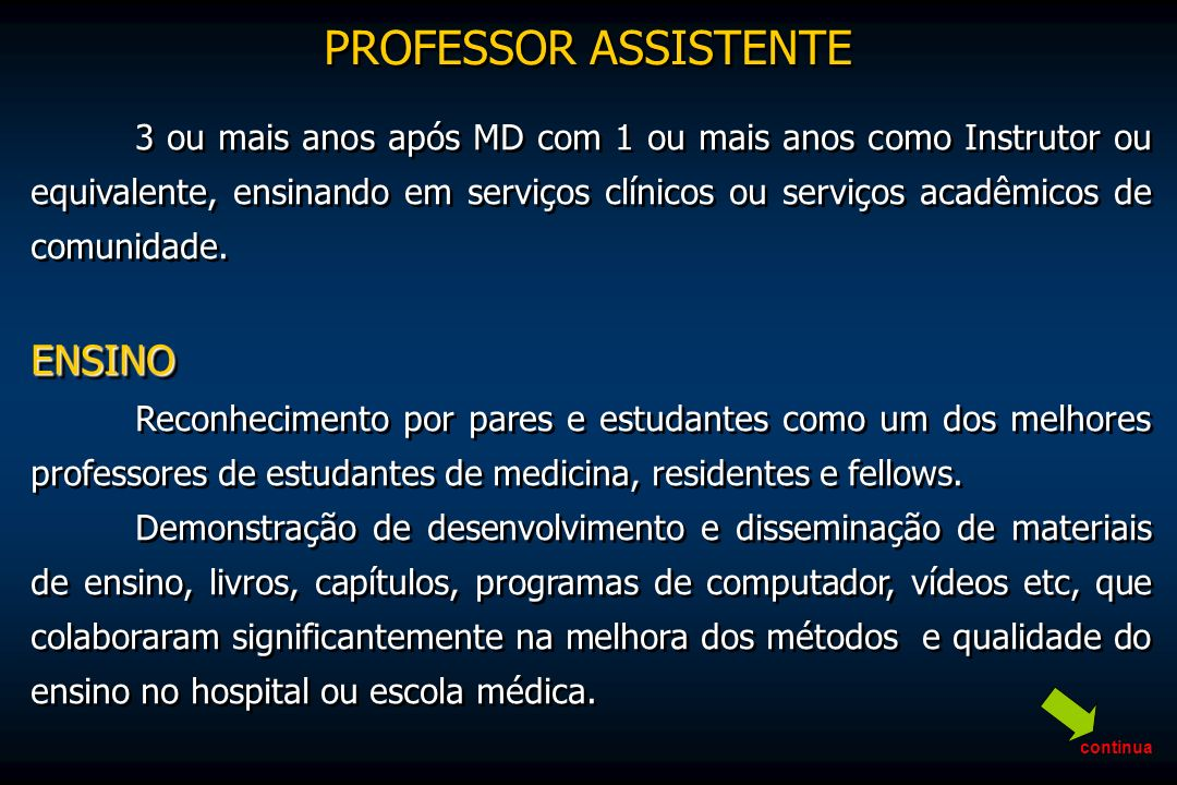 PROFESSOR ASSISTENTE ENSINO