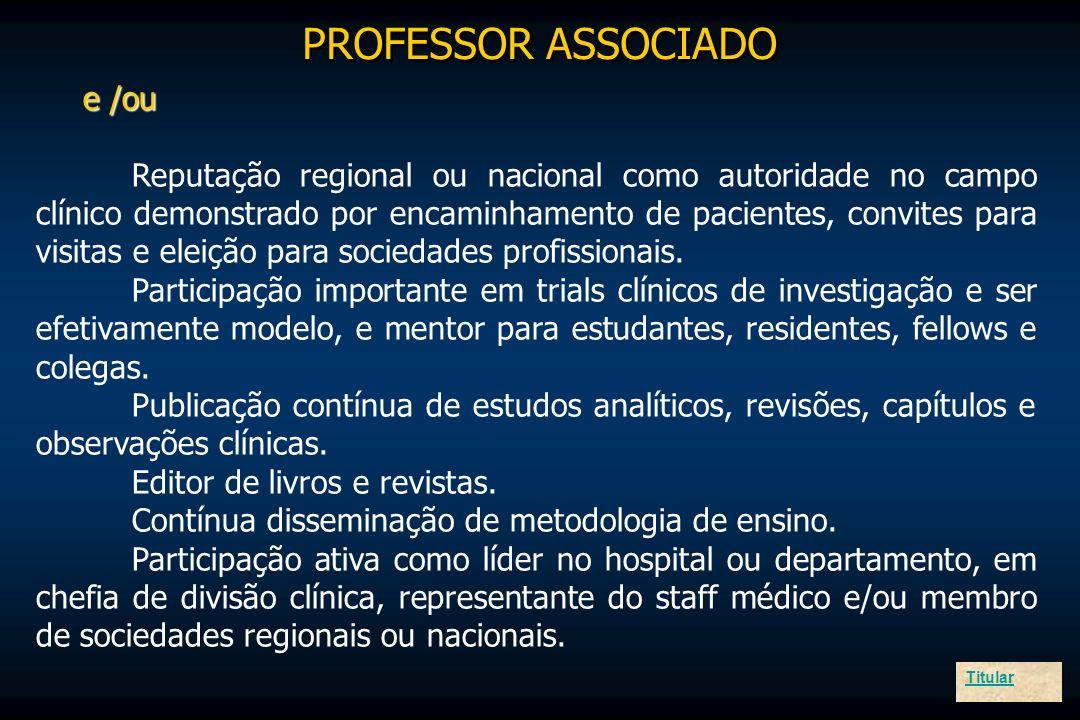 PROFESSOR ASSOCIADO e /ou