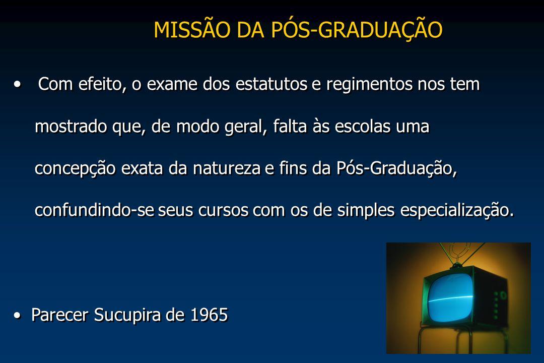 MISSÃO DA PÓS-GRADUAÇÃO