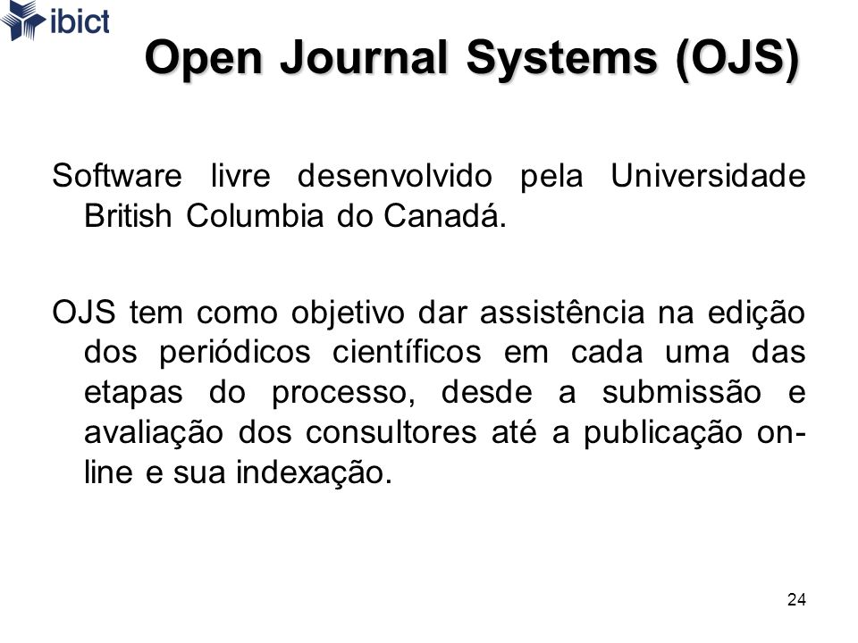 Open Journal Systems (OJS)