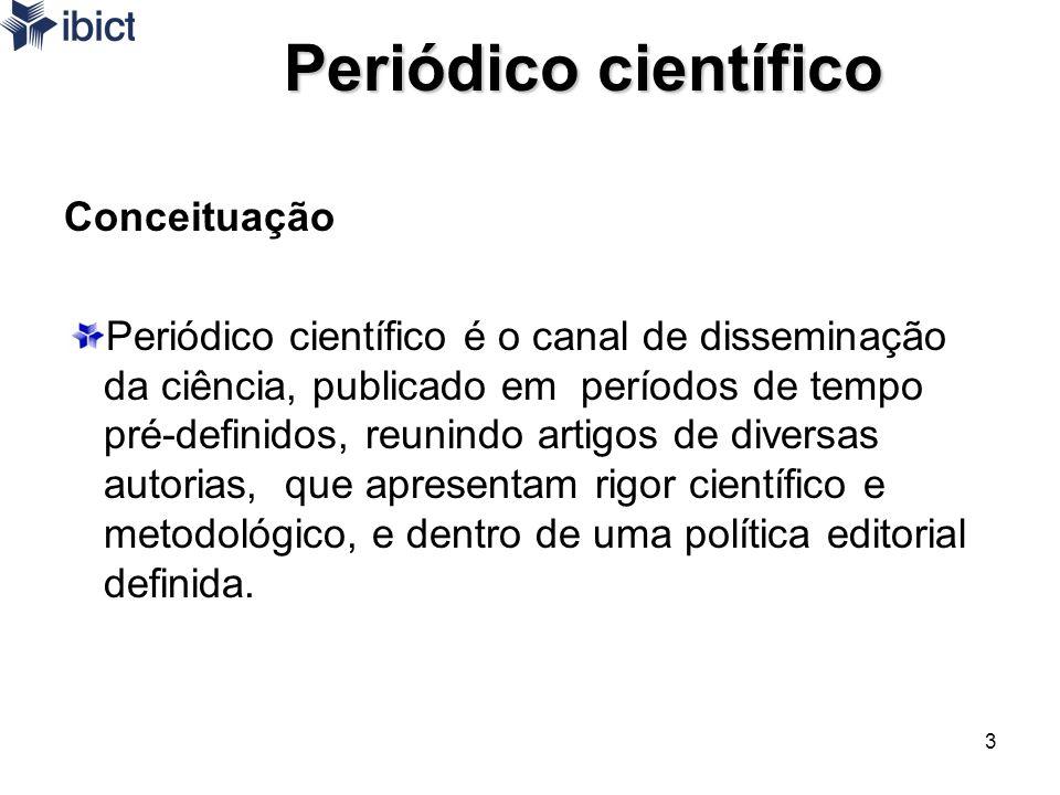 Periódico científico Conceituação
