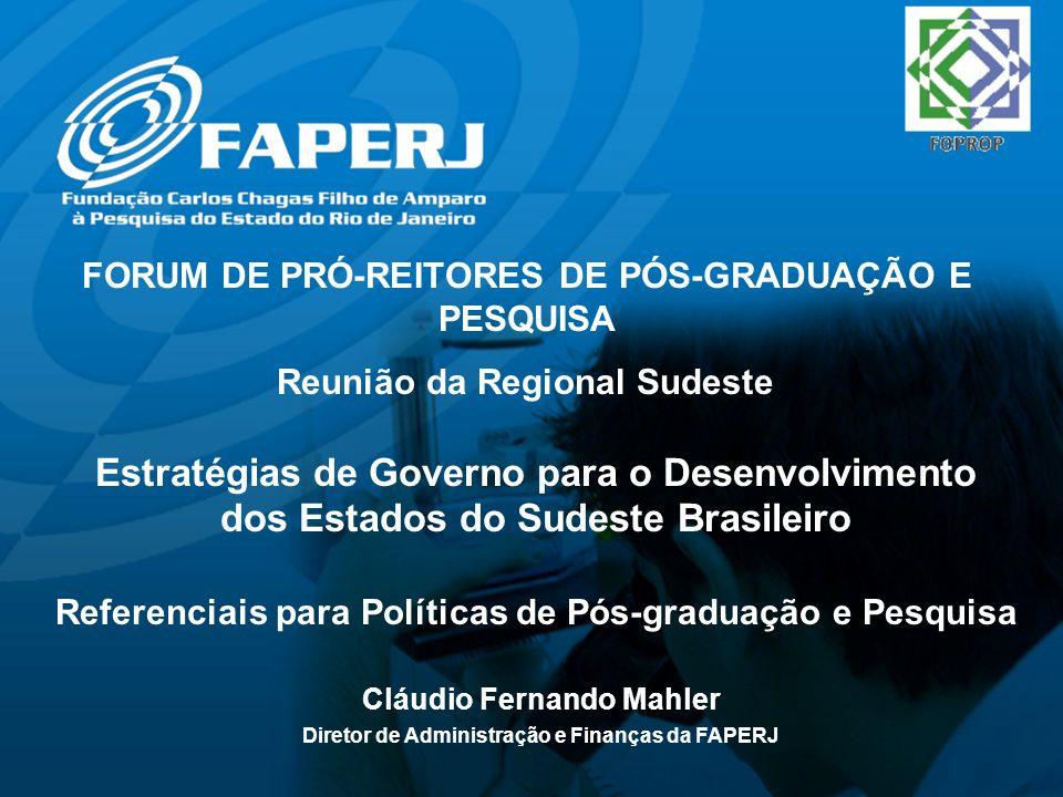 FORUM DE PRÓ-REITORES DE PÓS-GRADUAÇÃO E PESQUISA