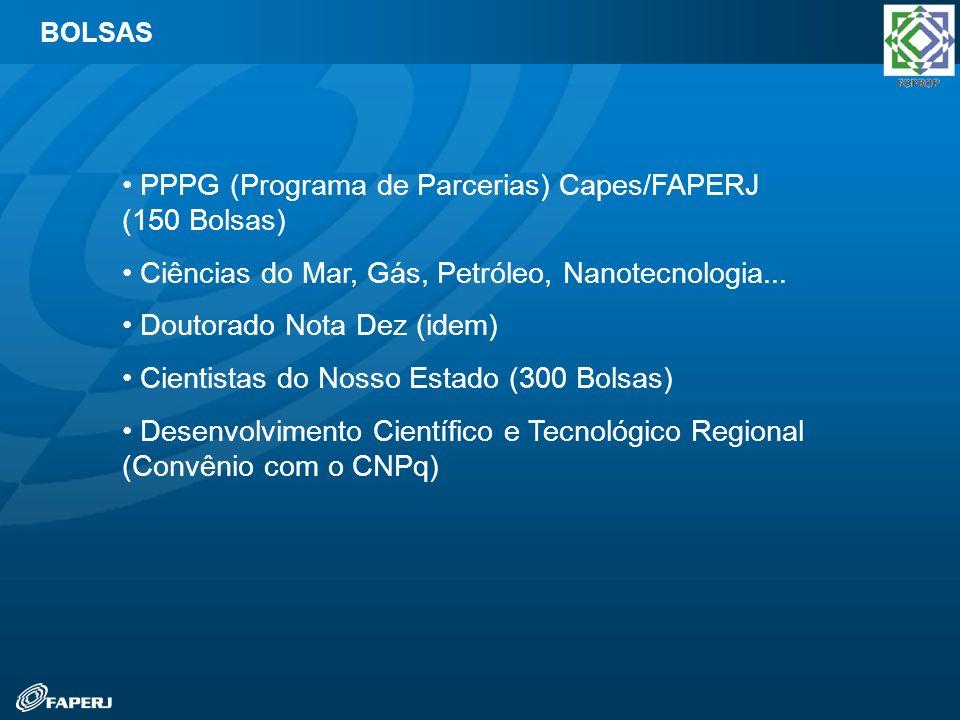 PPPG (Programa de Parcerias) Capes/FAPERJ (150 Bolsas)