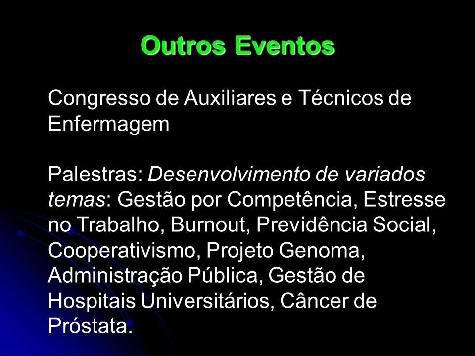 Outros Eventos Congresso de Auxiliares e Técnicos de Enfermagem