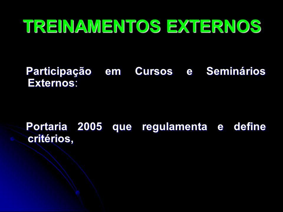TREINAMENTOS EXTERNOS