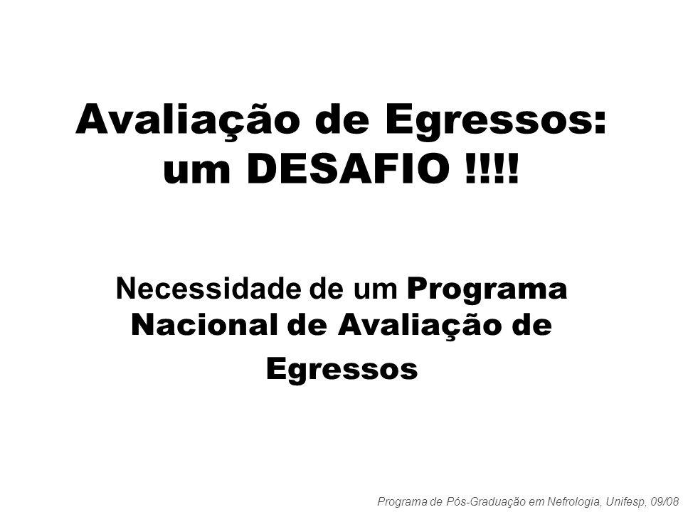 Avaliação de Egressos: um DESAFIO !!!!