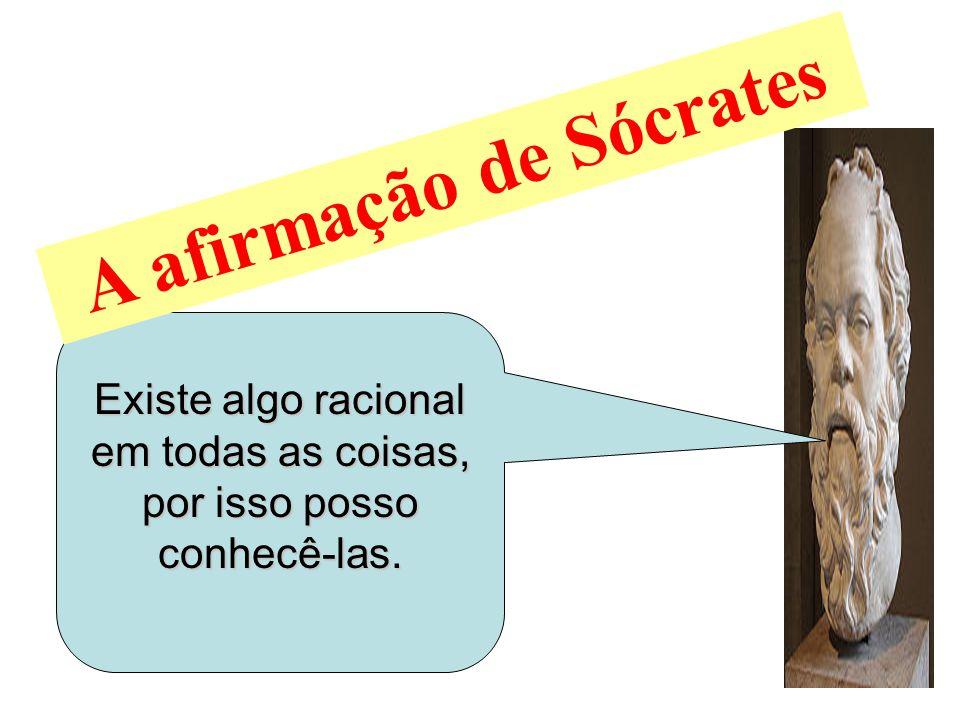 A afirmação de Sócrates