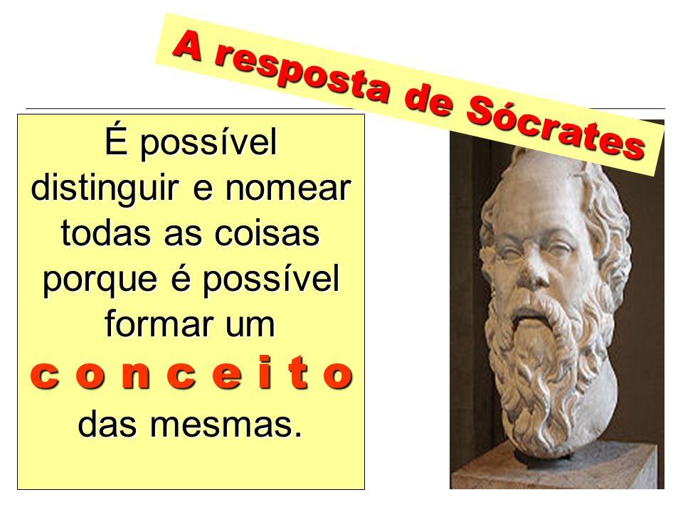 c o n c e i t o A resposta de Sócrates