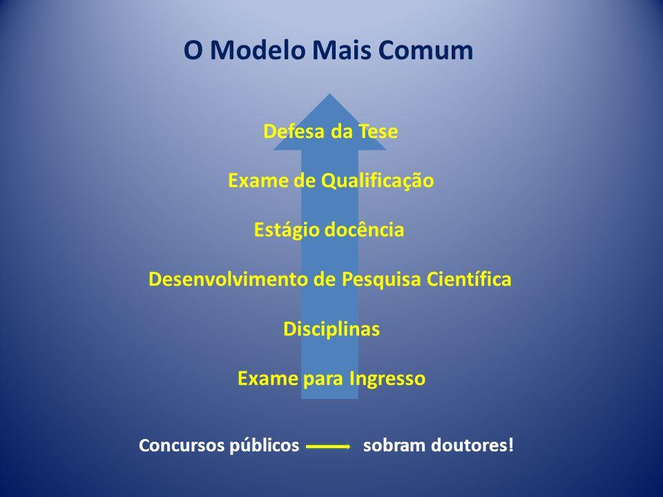 O Modelo Mais Comum Defesa da Tese Exame de Qualificação