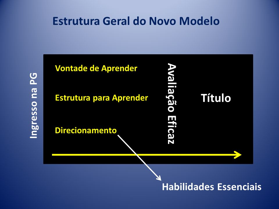 Estrutura Geral do Novo Modelo