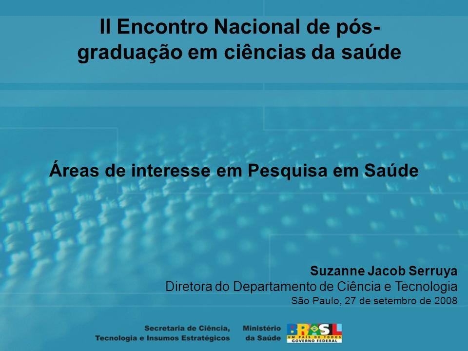 II Encontro Nacional de pós- graduação em ciências da saúde