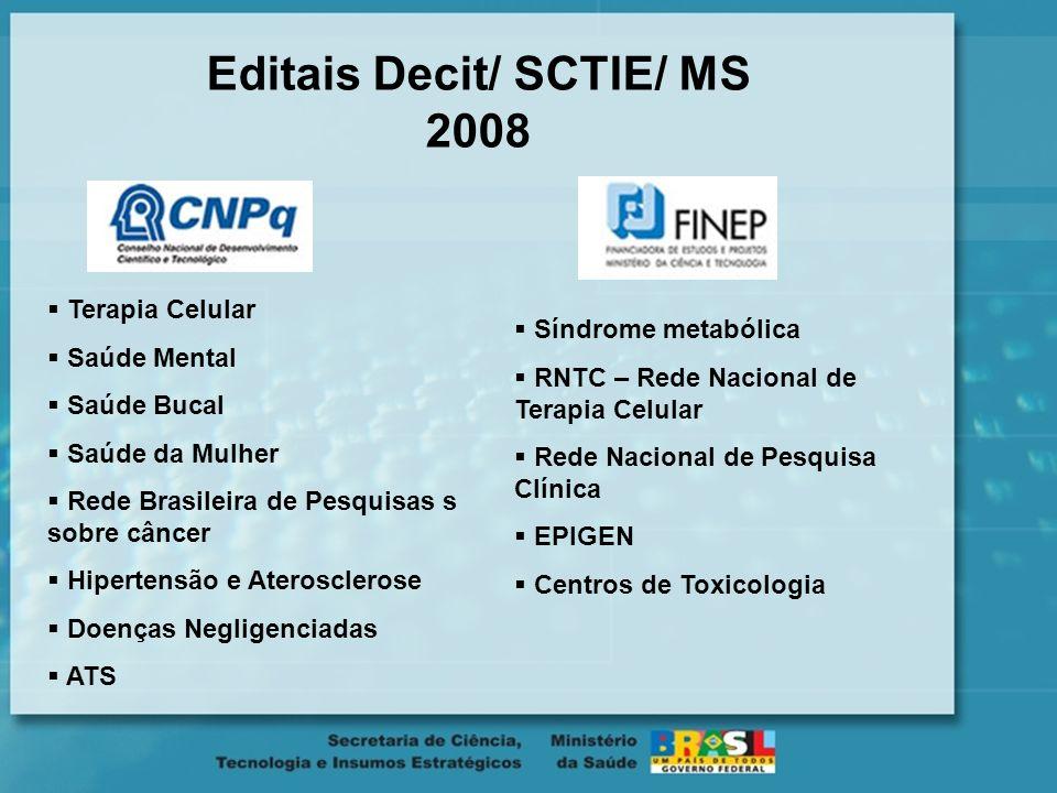 Editais Decit/ SCTIE/ MS 2008