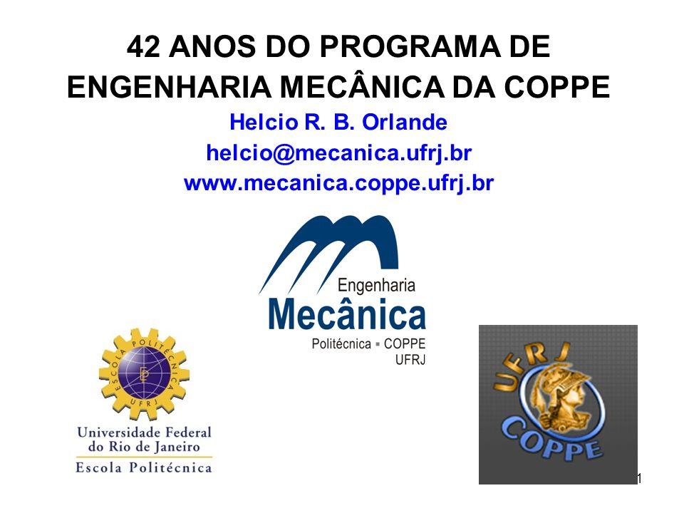 42 ANOS DO PROGRAMA DE ENGENHARIA MECÂNICA DA COPPE Helcio R. B