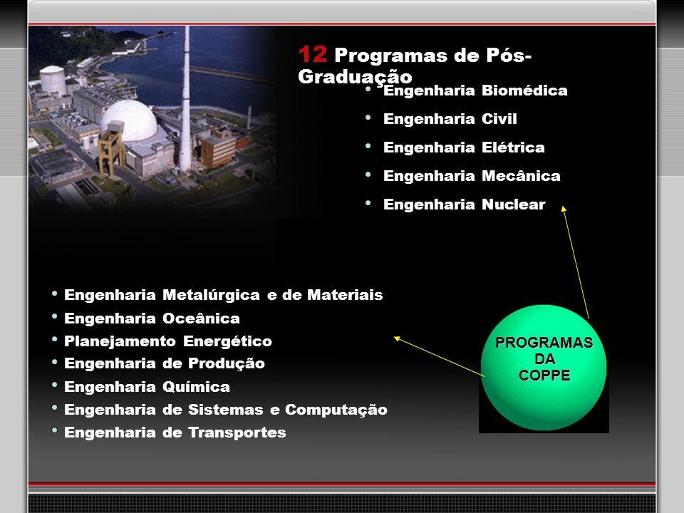 12 Programas de Pós-Graduação