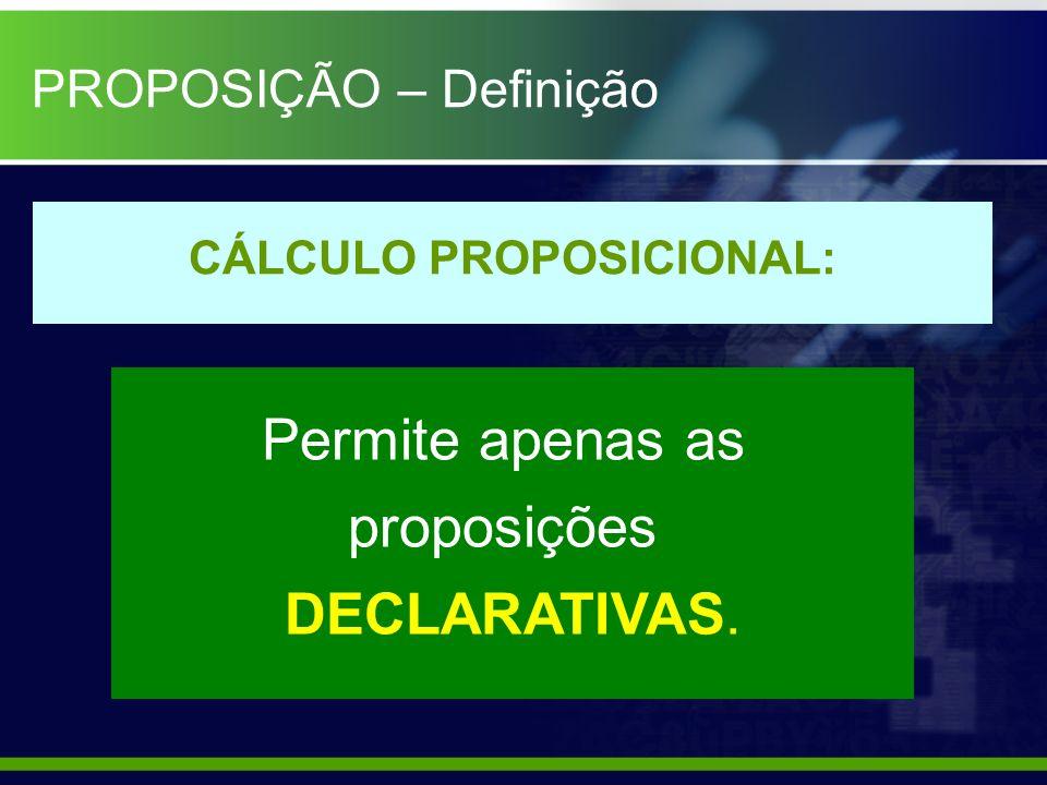CÁLCULO PROPOSICIONAL: