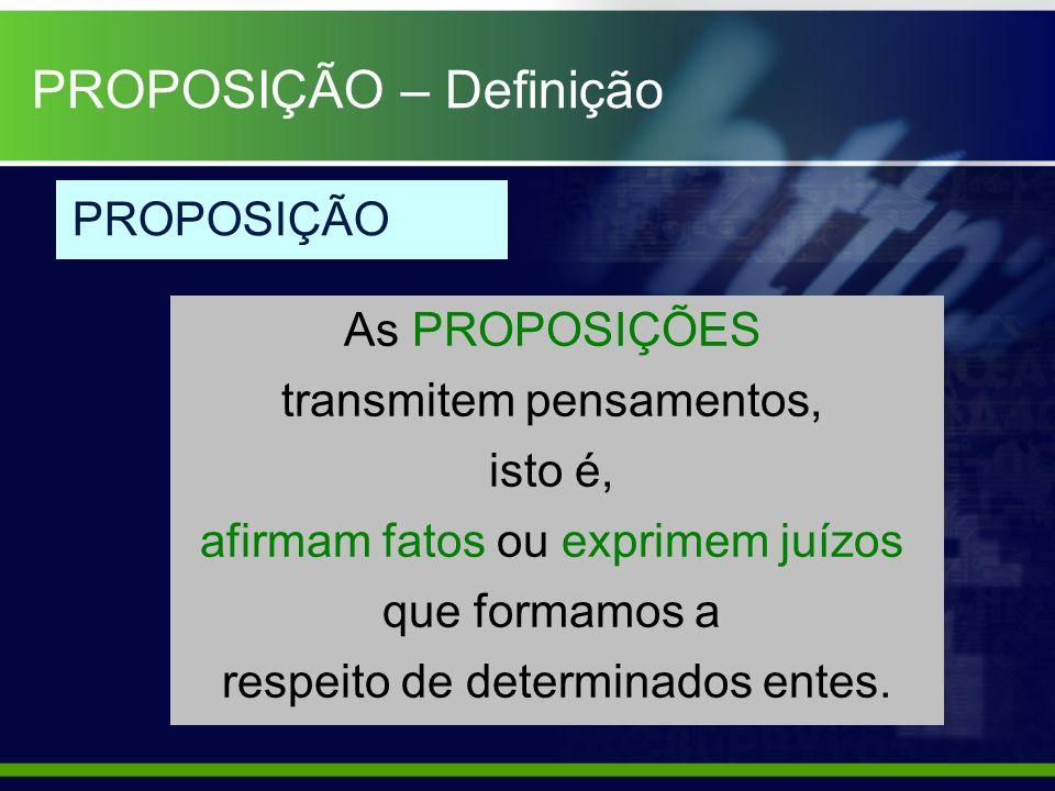 PROPOSIÇÃO – Definição