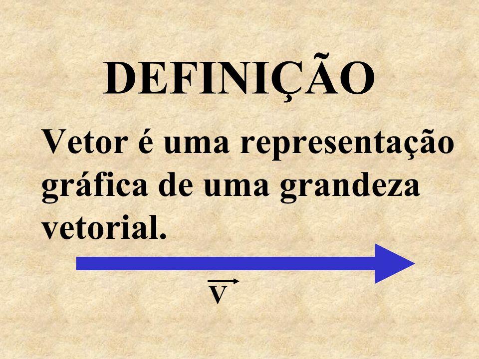 Vetor é uma representação gráfica de uma grandeza vetorial.