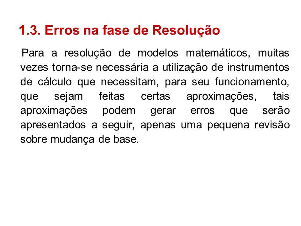 1.3. Erros na fase de Resolução