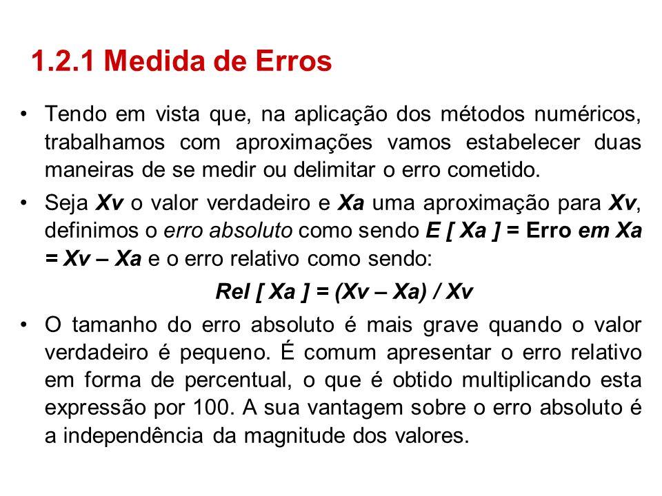 1.2.1 Medida de Erros