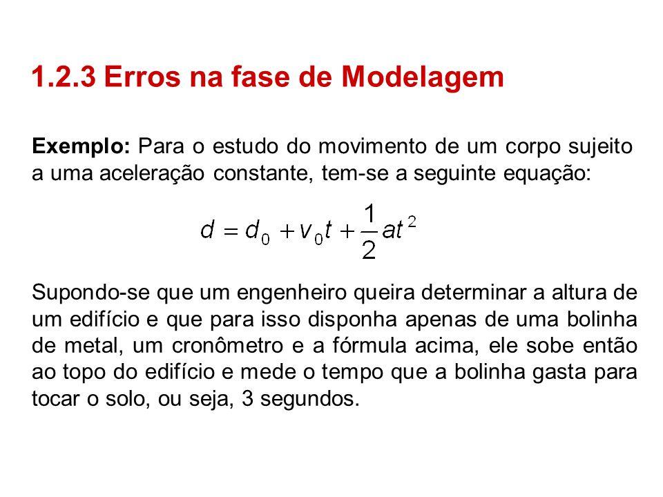 1.2.3 Erros na fase de Modelagem