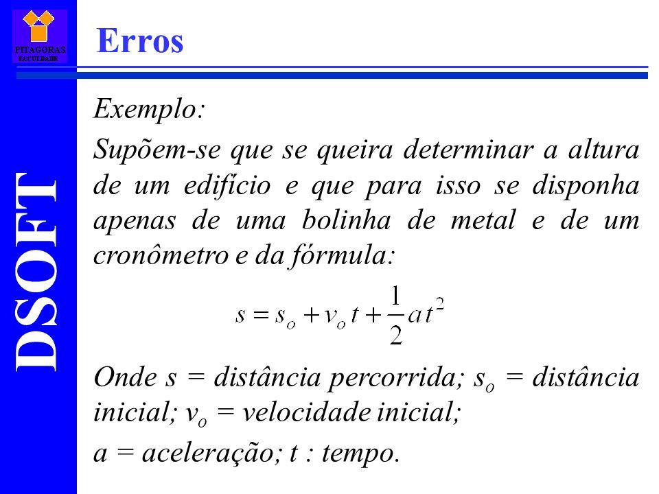 Erros Exemplo:
