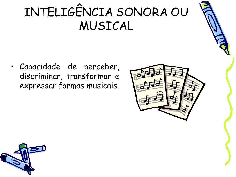INTELIGÊNCIA SONORA OU MUSICAL