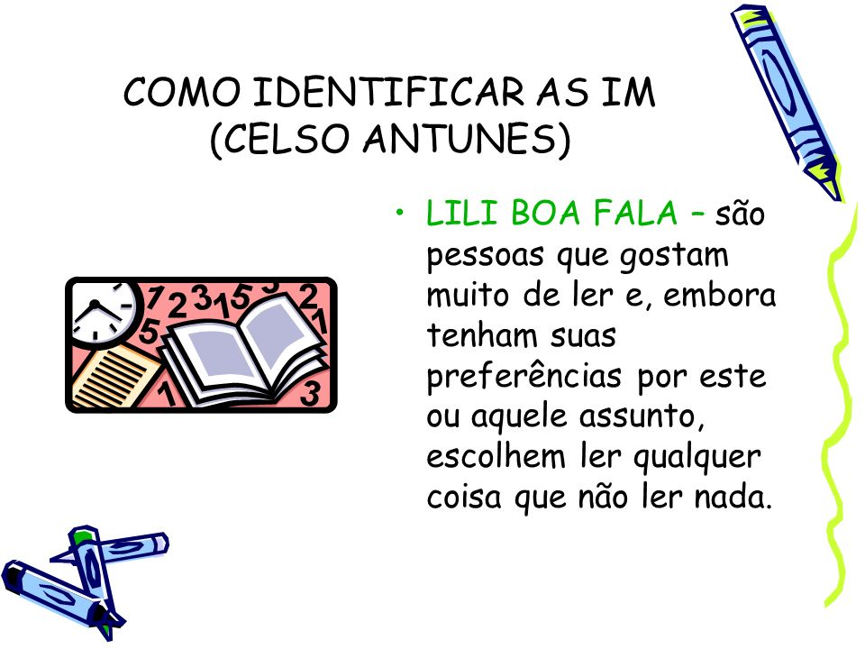 COMO IDENTIFICAR AS IM (CELSO ANTUNES)
