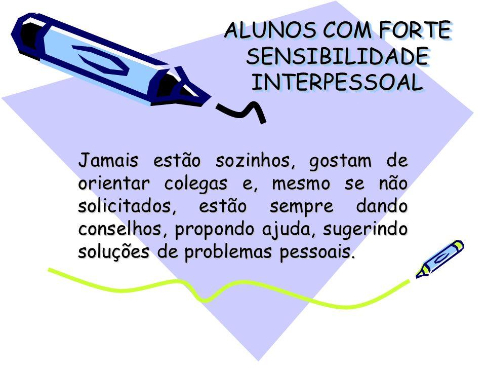 ALUNOS COM FORTE SENSIBILIDADE INTERPESSOAL