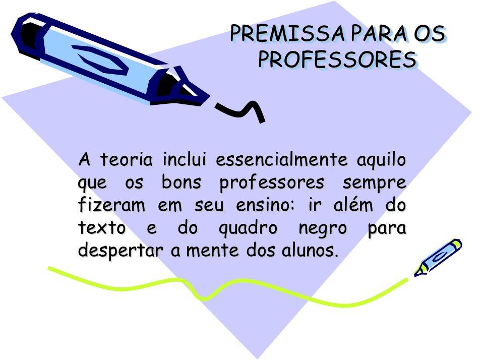 PREMISSA PARA OS PROFESSORES