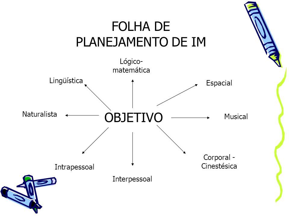 FOLHA DE PLANEJAMENTO DE IM