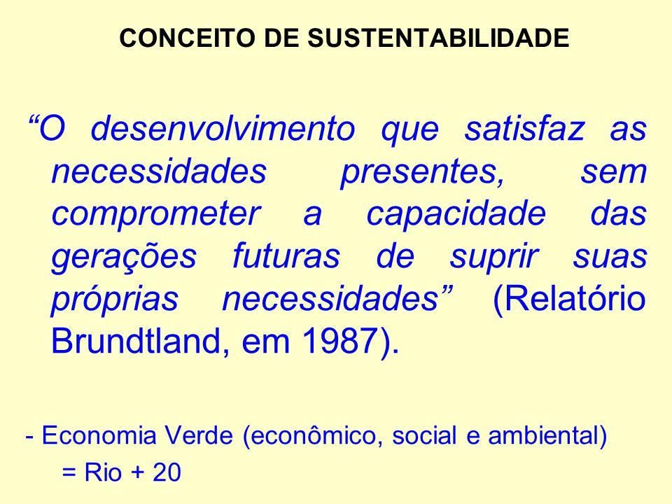 CONCEITO DE SUSTENTABILIDADE