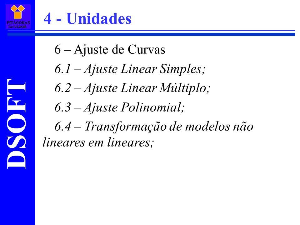 4 - Unidades 6 – Ajuste de Curvas 6.1 – Ajuste Linear Simples;