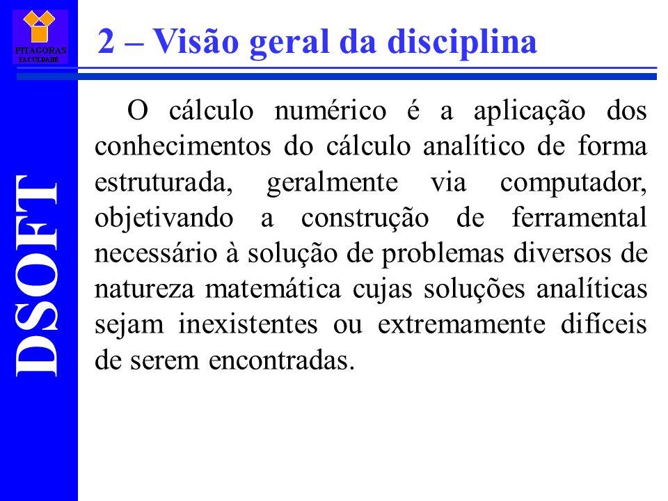 2 – Visão geral da disciplina