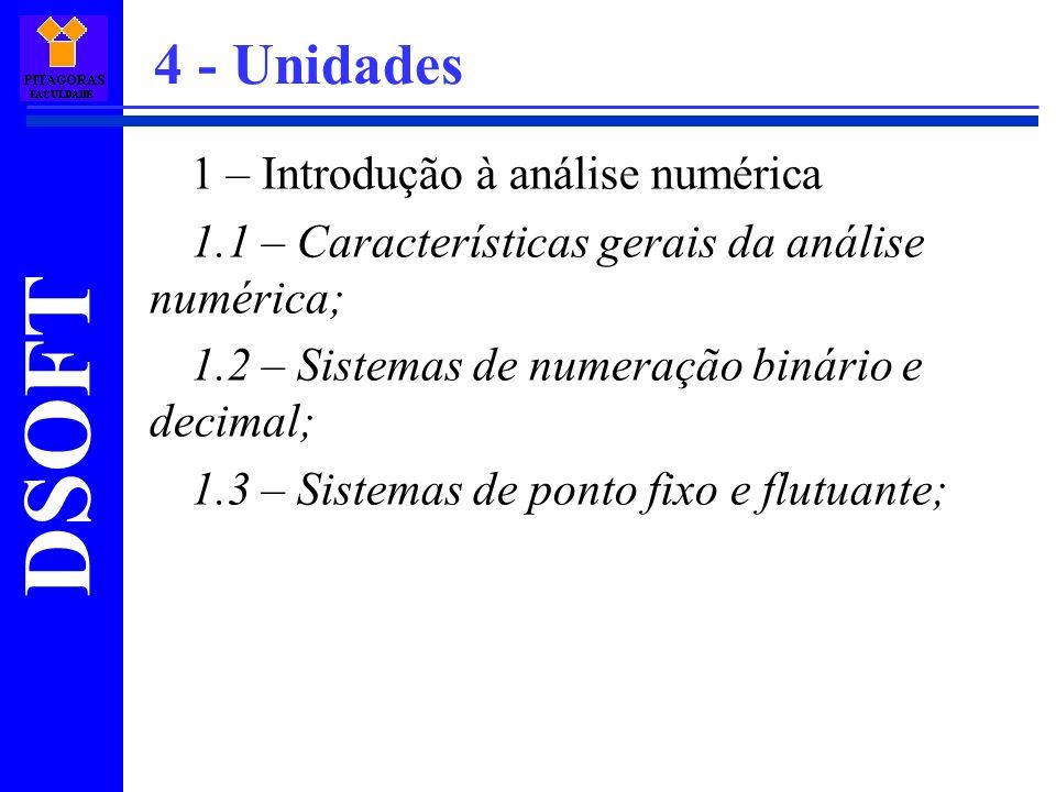 4 - Unidades 1 – Introdução à análise numérica