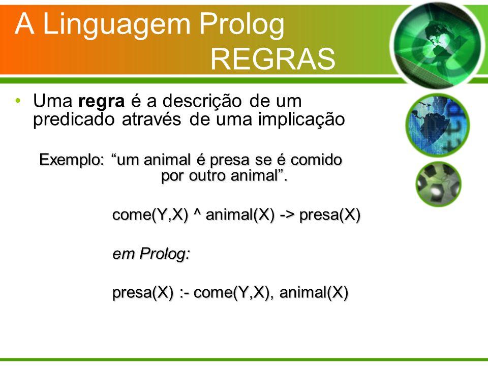 A Linguagem Prolog REGRAS