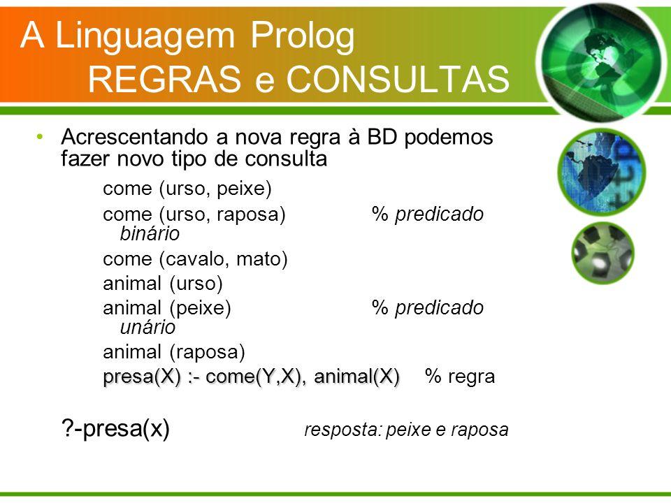 A Linguagem Prolog REGRAS e CONSULTAS