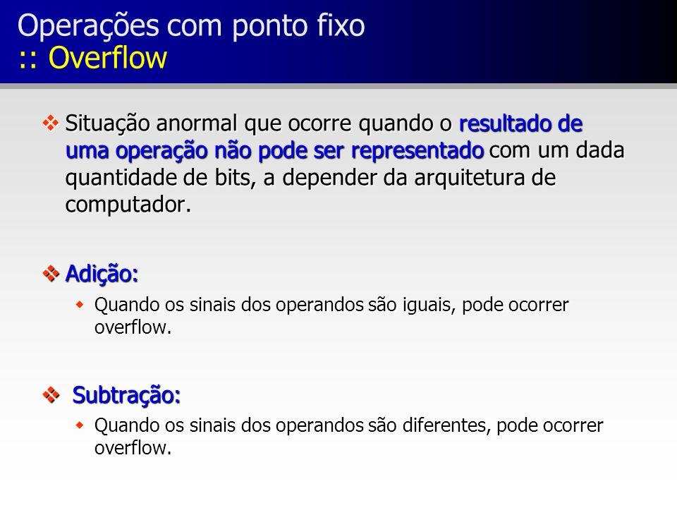 Operações com ponto fixo :: Overflow