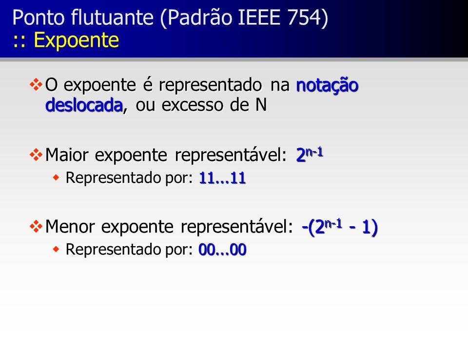Ponto flutuante (Padrão IEEE 754) :: Expoente