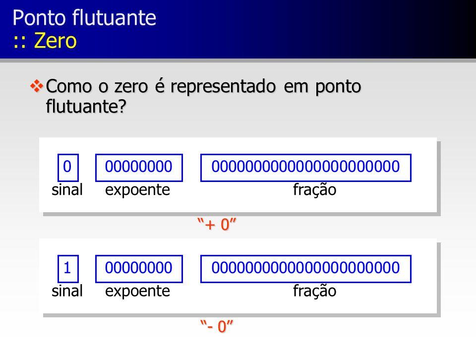 Ponto flutuante :: Zero