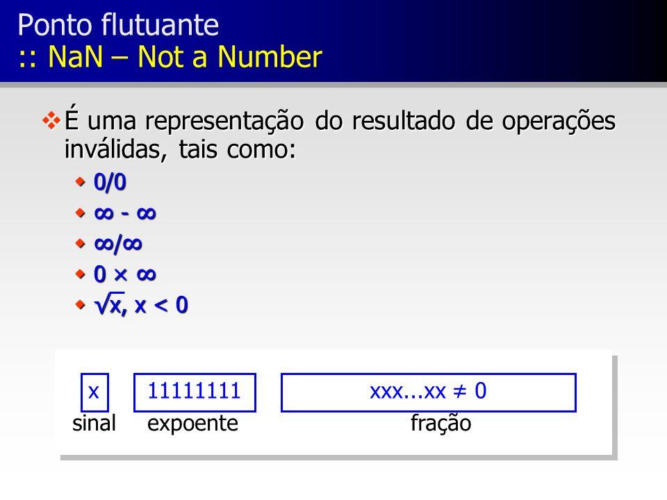 Ponto flutuante :: NaN – Not a Number