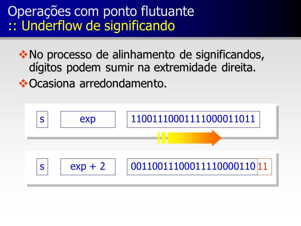 Operações com ponto flutuante :: Underflow de significando